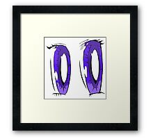 Violet Anime Eyes! Framed Print
