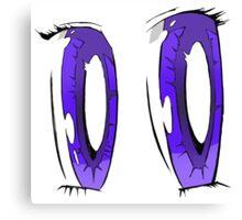 Violet Anime Eyes! Canvas Print