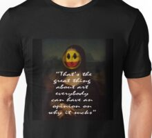 THE GREAT THING ABOUT ART Unisex T-Shirt