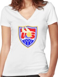 US Quidditch - World Cup 2014 Women's Fitted V-Neck T-Shirt