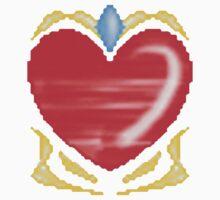 Diamond-Heart One Piece - Short Sleeve