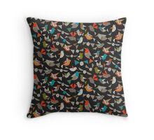 just birds dark Throw Pillow