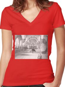Daiablor in the palace of Keon Women's Fitted V-Neck T-Shirt