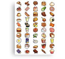 8Bit Pixel Food Canvas Print