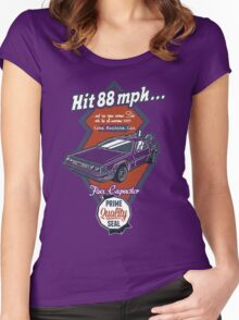 Time Machine Car Women's Fitted Scoop T-Shirt
