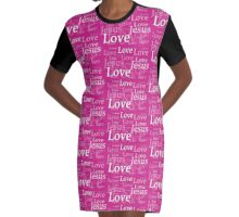 Jesus Love in pink Graphic T-Shirt Dress