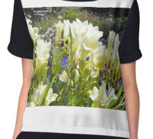 Spring Flowers Women's Chiffon Top