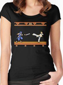 Ninjutsu vs. Kung Fu Women's Fitted Scoop T-Shirt