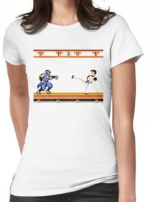 Ninjutsu vs. Kung Fu Womens Fitted T-Shirt