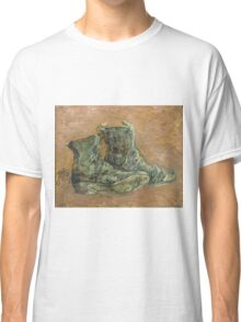 Vincent Van Gogh - Shoes.  shoes portrait:  shoes,  vintage shoes,  fashion,  colorful,  hipster,  leather ,  memories,  memory,  pair shoes,  boots, macho Classic T-Shirt