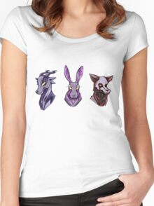 Creepy Woodland Creatures Women's Fitted Scoop T-Shirt