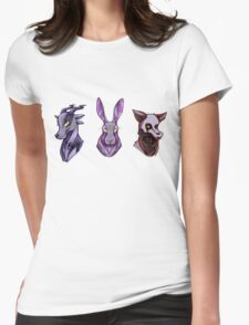 Creepy Woodland Creatures Womens Fitted T-Shirt