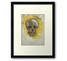 Vincent Van Gogh - Skull 2. portrait skull: skeletal, skeleton, smoking, teeth, mouth, skull, remains, ash, head, fantasy , death Framed Print