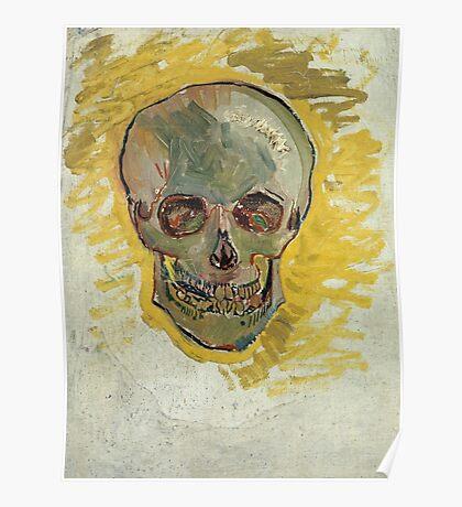 Vincent Van Gogh - Skull 2. portrait skull: skeletal, skeleton, smoking, teeth, mouth, skull, remains, ash, head, fantasy , death Poster