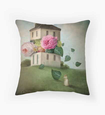 House of Flowers Throw Pillow