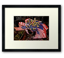 Flags In The Store Framed Print