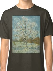 Vincent Van Gogh - The Pink Peach Tree. Garden landscape: garden view, trees and flowers, blossom, nature, botanical park, floral flora, wonderful flowers, plants, cute plant, garden, flower Classic T-Shirt