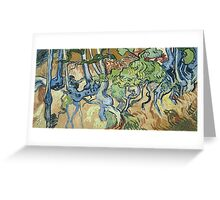 Vincent Van Gogh - Tree-Roots. Garden landscape: garden view, trees and flowers, blossom, nature, botanical park, floral flora, wonderful flowers, plants, cute plant, garden, flower Greeting Card