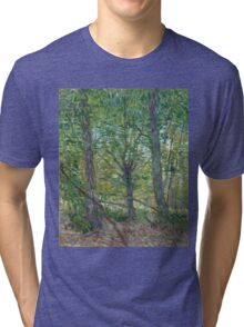 Vincent Van Gogh - Trees. Forest view: forest , trees,  fauna, nature, birds, animals, flora, flowers, plants, field, weekend Tri-blend T-Shirt