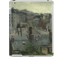 Vincent Van Gogh - View From Vincent S Studio. House landscape: city view, streets, building, little house, church, cityscape, architecture, construction, travel landmarks, panorama garden, buildings iPad Case/Skin