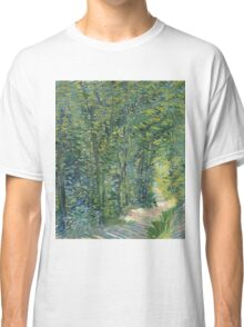 Vincent Van Gogh - Path In The Woods. Forest view: forest , trees,  fauna, nature, birds, animals, flora, flowers, plants, field, weekend Classic T-Shirt