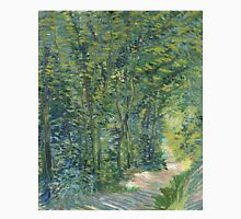 Vincent Van Gogh - Path In The Woods. Forest view: forest , trees,  fauna, nature, birds, animals, flora, flowers, plants, field, weekend Unisex T-Shirt