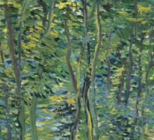 Vincent Van Gogh - Path In The Woods. Forest view: forest , trees,  fauna, nature, birds, animals, flora, flowers, plants, field, weekend Sticker