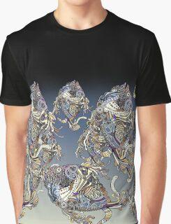 Dragon Fish Pattern Graphic T-Shirt