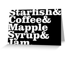 Starfish & Coffee Prince Greeting Card