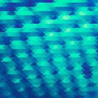 Modern Fashion Abstract Color Pattern in Blue / Green by badbugs