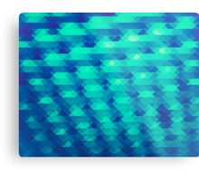 Modern Fashion Abstract Color Pattern in Blue / Green Metal Print