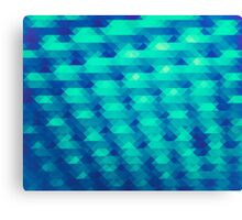 Modern Fashion Abstract Color Pattern in Blue / Green Canvas Print