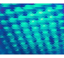 Modern Fashion Abstract Color Pattern in Blue / Green Photographic Print