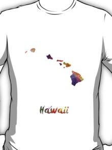 Hawaii US state in watercolor T-Shirt