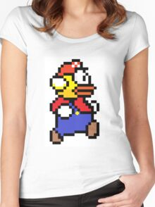 Flappy Mario Women's Fitted Scoop T-Shirt
