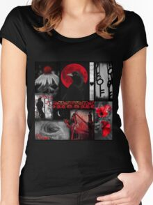 Gothic Red Women's Fitted Scoop T-Shirt