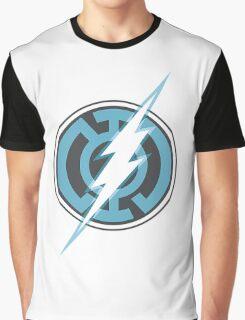 Blue Lantern Flash Graphic T-Shirt