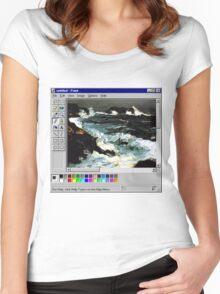 Microsoft Paint Art Women's Fitted Scoop T-Shirt