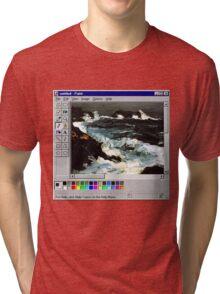Microsoft Paint Art Tri-blend T-Shirt