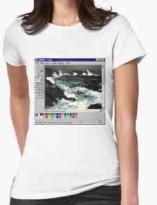 Microsoft Paint Art Womens Fitted T-Shirt