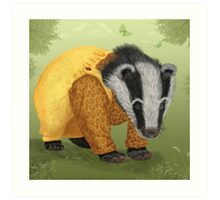 Mr Badger Art Print