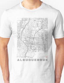 Albuquerque Map Line Unisex T-Shirt