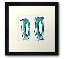 Aqua Anime Eyes! Framed Print