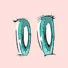 Aqua Anime Eyes! by Brendan Coyle