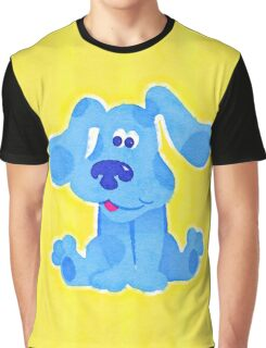 Blue Watercolor Graphic T-Shirt