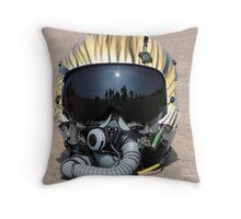 Flying Tiger Head Gear Throw Pillow