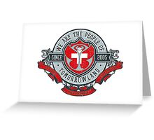People of Tomorrowland Vintage Flags logo -  Switzerland - Suisse - Schweiz - svizzera Greeting Card