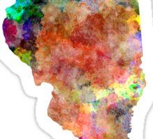 Illinois US state in watercolor Sticker