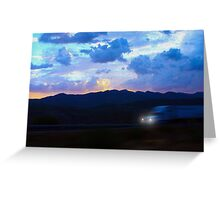 Arizona Night Trucker Greeting Card