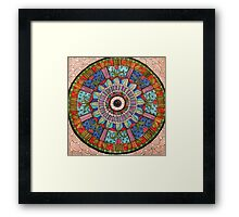 Peaceful  Circles Framed Print